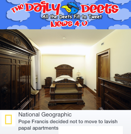 The Pope's new bedroom!