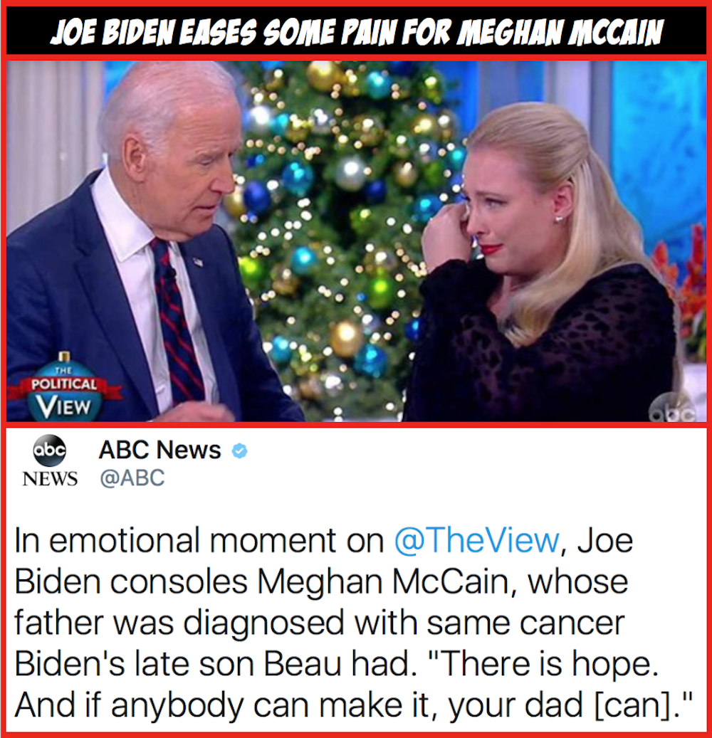 WATCH ?Joe Biden Eases The Pain For Meghan McCain
